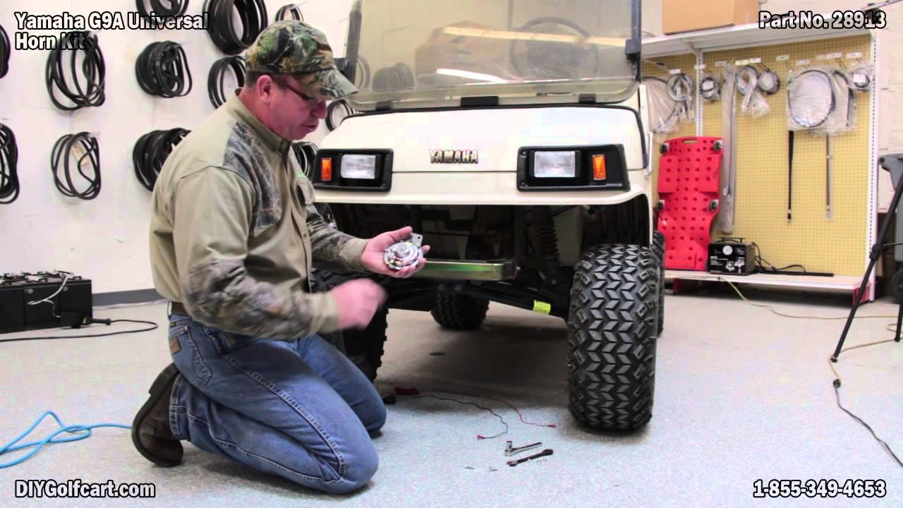 universal golf cart horn kit how to install on yamaha gas youtube yahama golf cart horn wiring diagram [ 1280 x 720 Pixel ]