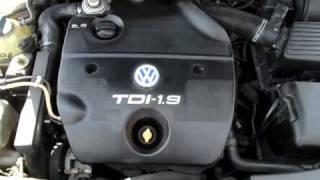Фольксваген Гольф 4 пуск и работа дизельного двигателя