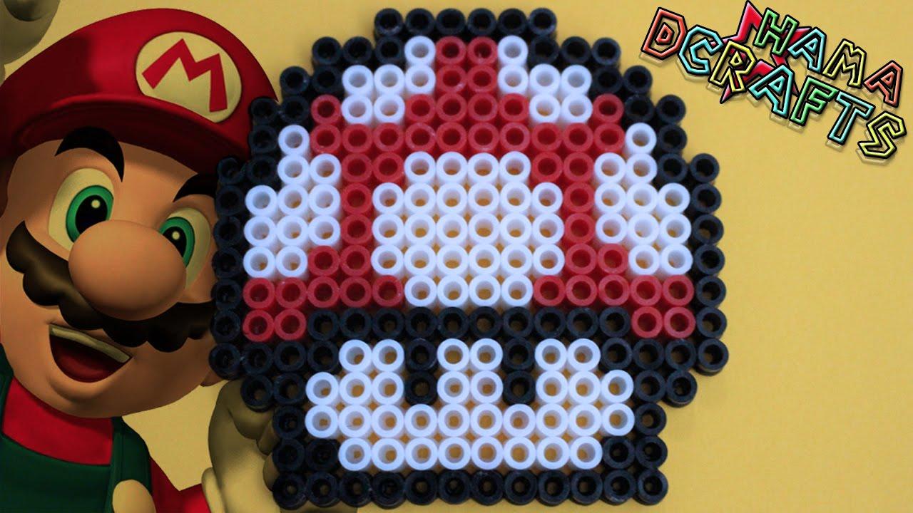 Como hacer seta de super mario bros de hama perler beads - Como hacer sopa de setas en minecraft ...