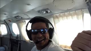 Flying with first time passengers in the Cessna 340!