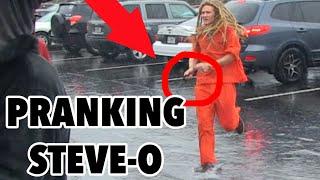 PRANKING Steve-O! (Stick Up Prank EXTRAS)