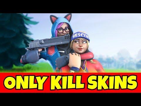 i can ONLY kill FEMALE skins in fortnite... (so sad)