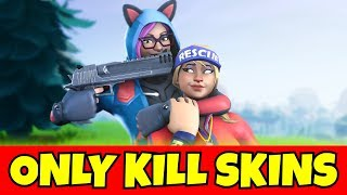 i can ONLY kill FEMALE skins in fortnite... (so sad)