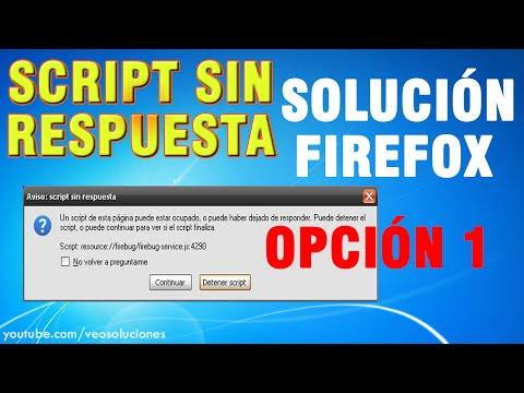 Mozilla Firefox | Script sin respuesta (cómo solucionarlo) 1/2