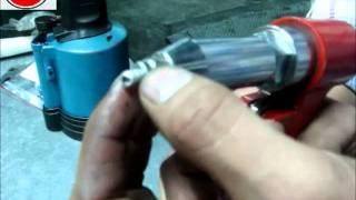 折疊強力式鋁鐵拉釘 - 拉鉚示範 INSTALLING FOLDING BLIND RIVET - 螺峯 (TOP SCREW)