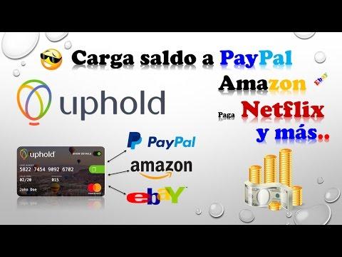 💳Tarjeta de crédito MasterCard 💳(Uphold) - Cargar Saldo a PayPal, Amazon, compra en tiendas online.