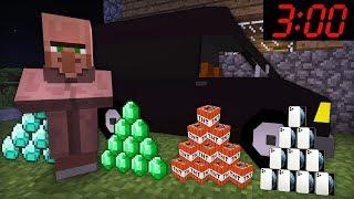 КАЖДУЮ НОЧЬ ЖИТЕЛЬ ПРИВОЗИТ ЭТО В ДЕРЕВНЮ В МАЙНКРАФТ 100 ТРОЛЛИНГ ЛОВУШКА Minecraft 3 ЧАСА НОЧИ