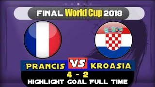 PRANCIS vs KROASIA (4-2) Full Highlights | PIALA DUNIA 2018