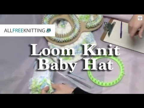 How To Loom Knit Baby Hat Youtube