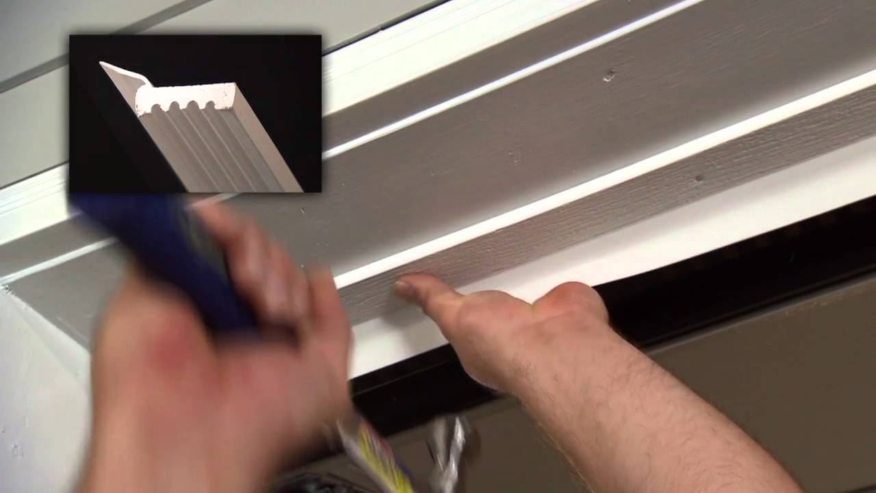 garage door trim kitHow to Install Vinyl Thermostop Garage Door Trim  YouTube