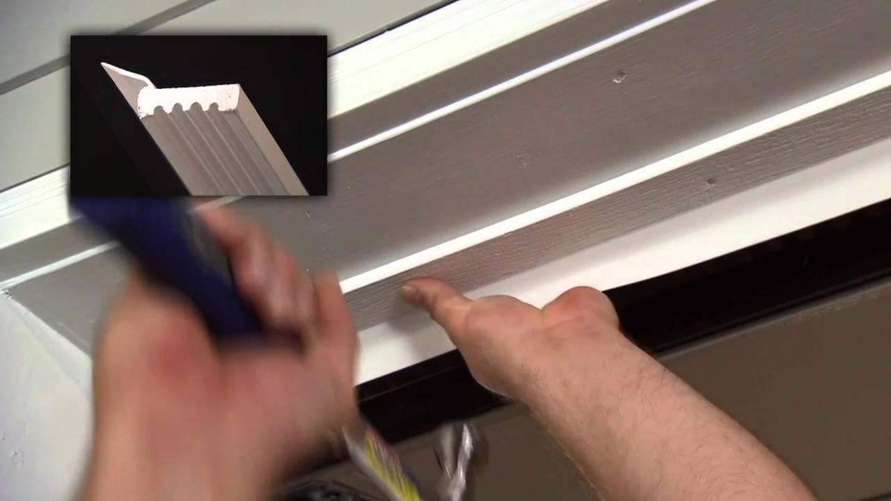 How to Install Vinyl Thermostop Garage Door Trim  YouTube