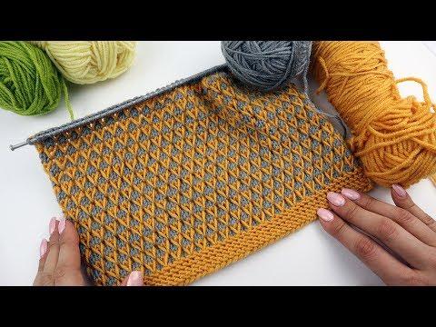 Вязание спицами двухцветные узоры схемы самые простые