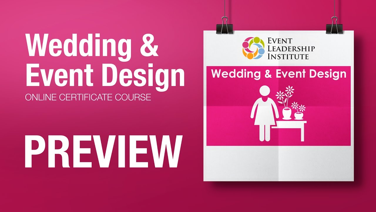 Wedding Event Design Online Certificate Course Preview Youtube