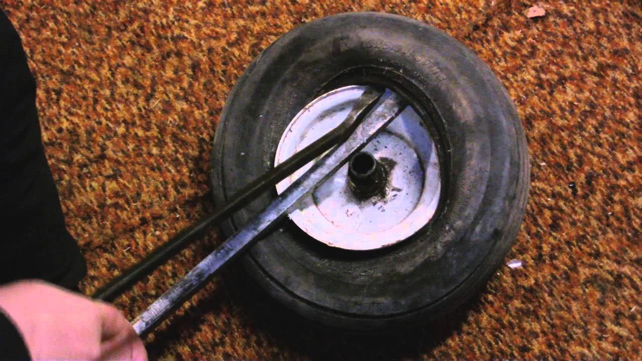 Tire Changing Hand Tools >> How To Dismount And Mount Lawn Mower Tire With Hand Tools Youtube