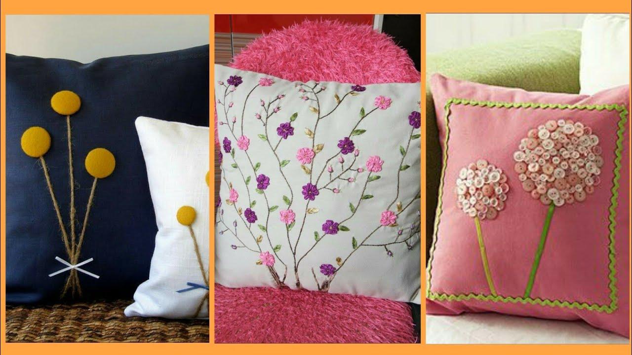 Hand made cushions design    hand work cushion cover designs ideas