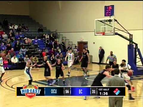 NCCAA Div 2 - Men's MidEast Region Semi-Final - OCU v Boyce - 02-22-13