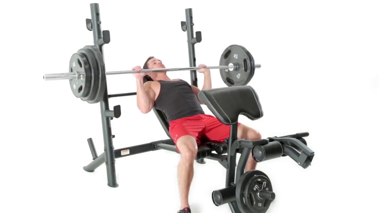 Marcy MD-867W Diamond Weight Bench Workout Demonstration