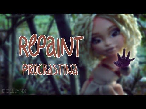 FIRST BIG DOLL REPAINT || Changing the bodytype || Custom OOAK || Procrastina