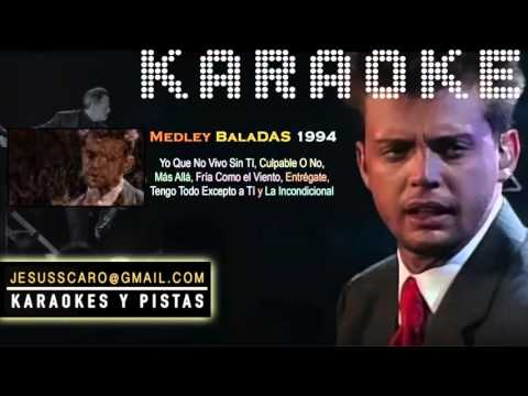 KARAOKE Luis Miguel - Medley Baladas 1994 PISTA