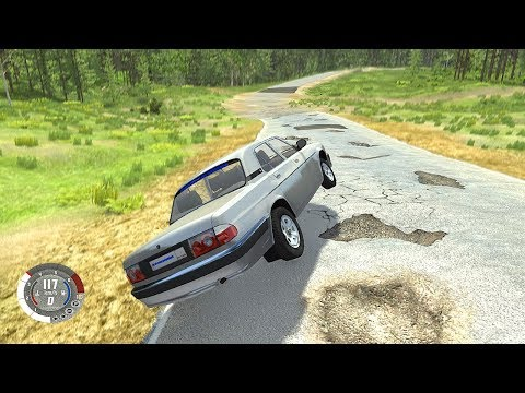 ГАЗ В ПОЛ ПО ЯМАМ ! РУССКИЕ ДОРОГИ - BEAMNG DRIVE