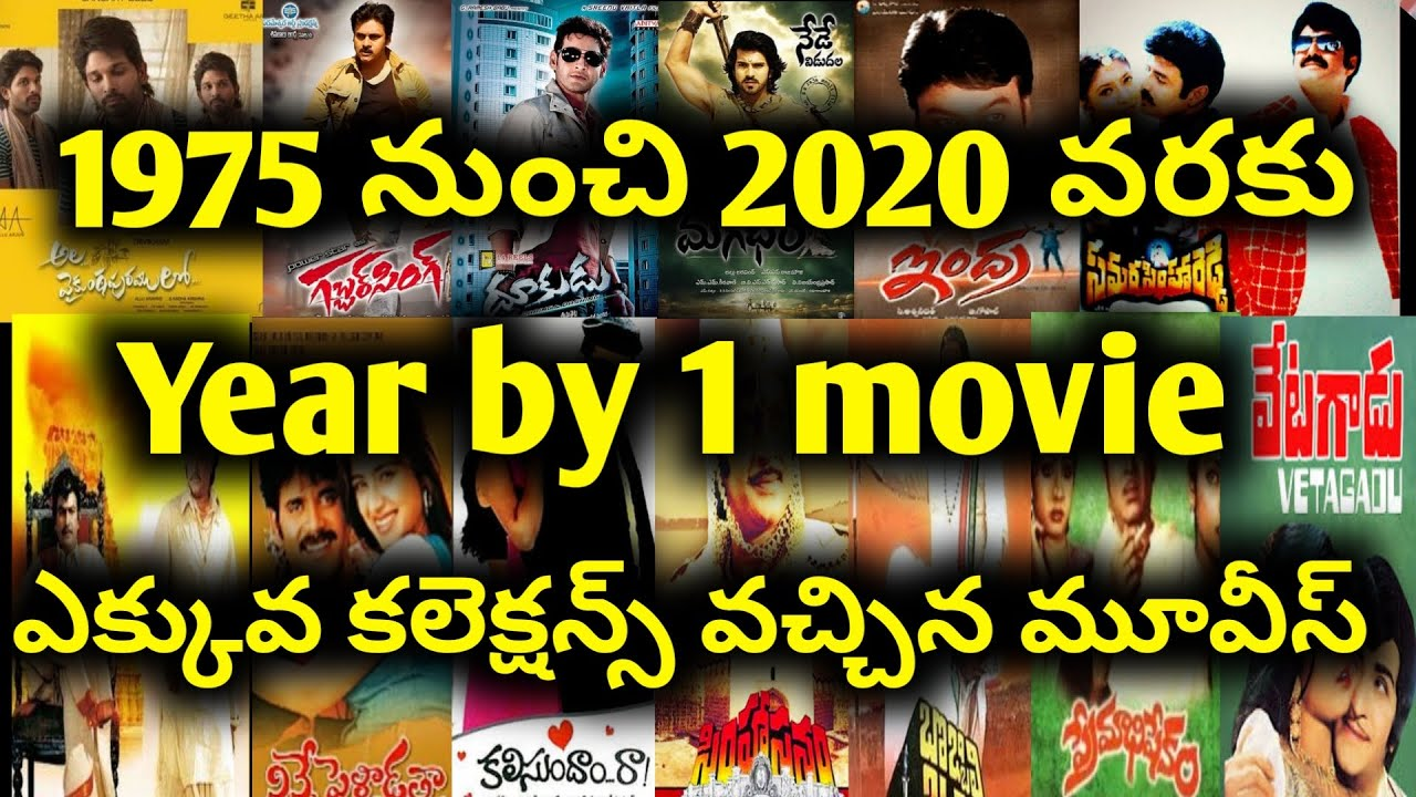 1975 To 2020 Highest grossing Movies by Year list upto Ala Vaikunthapurramuloo
