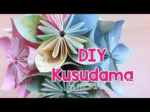 DIY Kusudama Paper Flower Tutorial