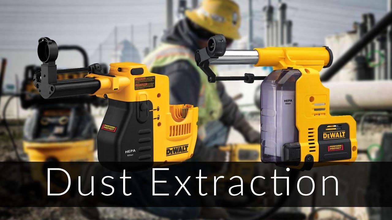 Dewalt Dust Extractor >> DeWalt Rotary Hammer Dust Extraction Attachment - YouTube