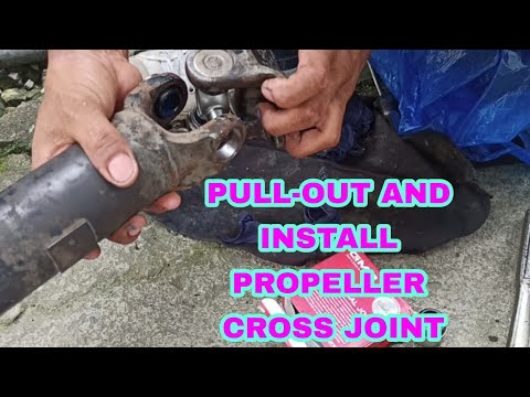 how pull – out and install propeller cross joint | pick up Fuego ISUZU