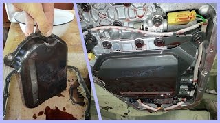 видео Замена масла АКПП с фильтром Nissan Tiida