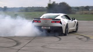 CHEVROLET CORVETTE C7 BURNING RUBBER & DRAG RACING!