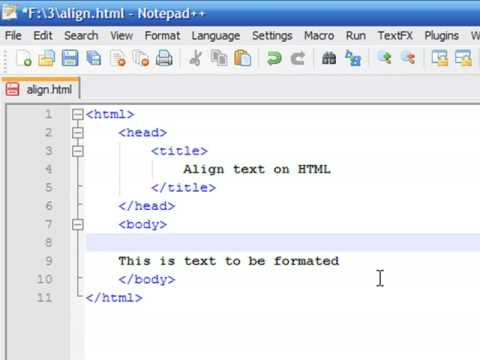 How to Create Web Pages Using HTML : How to Align Text in ...