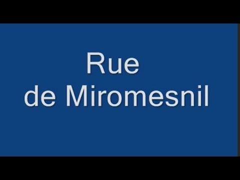 Rue   de Miromesnil  Paris Arrondissement  8e