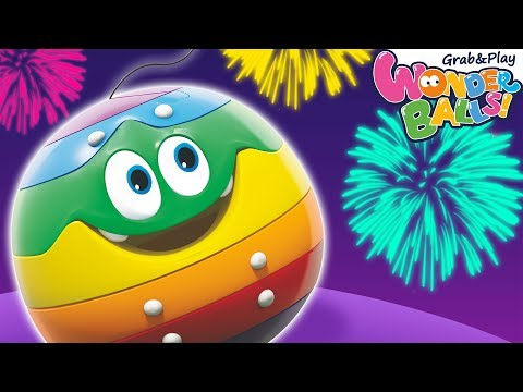 Fun With Fireworks! Colors With Wonderballs And More Funny Cartoons For Kids Wonderballs Official