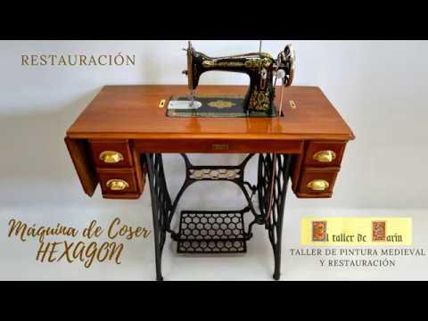 Como restaurar máquina de coser antigua HEXAGON - YouTube