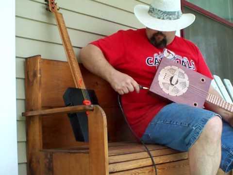 Cigar Box Resonator guitar by Back porch Mojo
