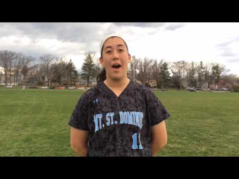 Mount St. Dominic pitcher Kelsey Oh talks after topping Livingston