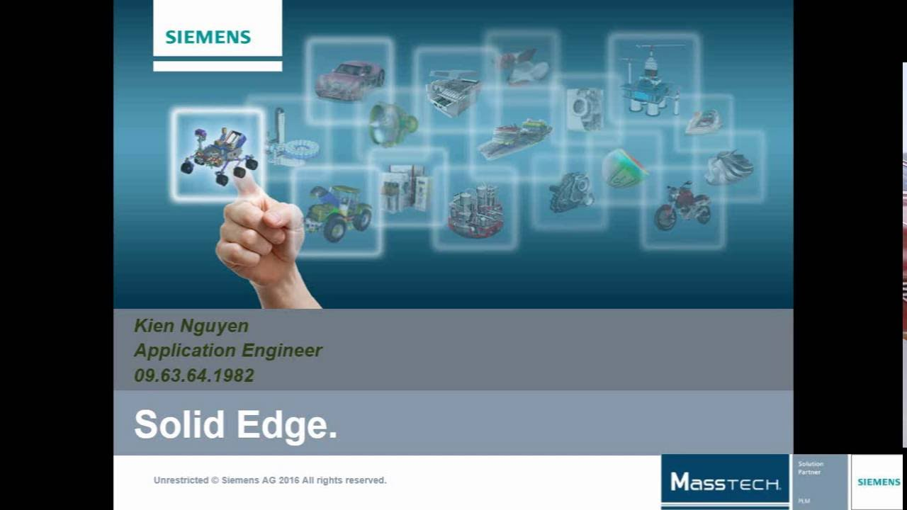 Hướng dẫn Solid Edge Siemens bài 4   Trainning Solid Edge Lesson 4