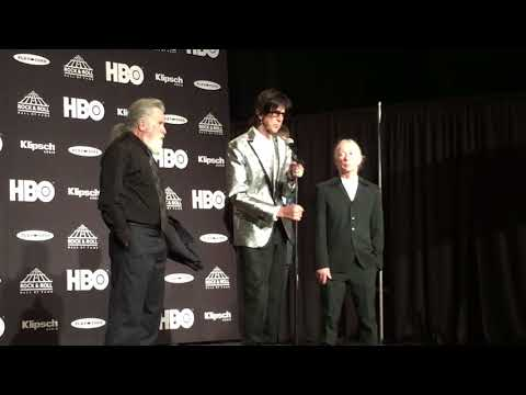 The Cars Ric Ocasek talks about growing up in Cleveland backstage at the Rock Hall inductions 2018