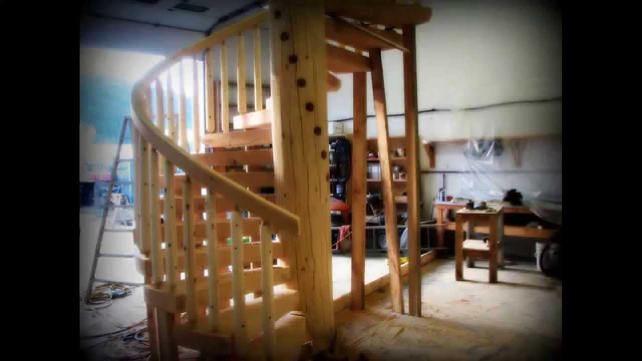 Lake Country Log Homes Stairs U0026 Railing Photo Collection   YouTube