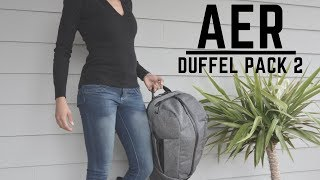 AER Duffel Pack 2 Gym to Work with Ease!