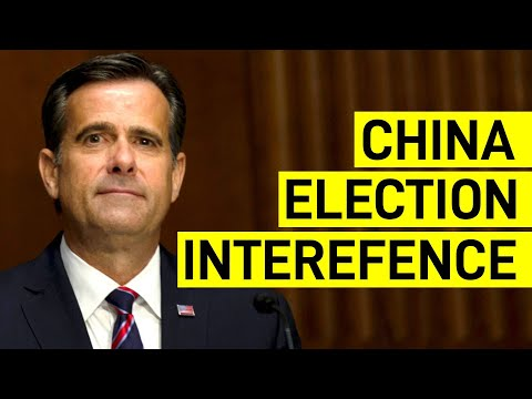 China 'Sought to Influence' 2020 US Election, Director of National Intelligence Assesses