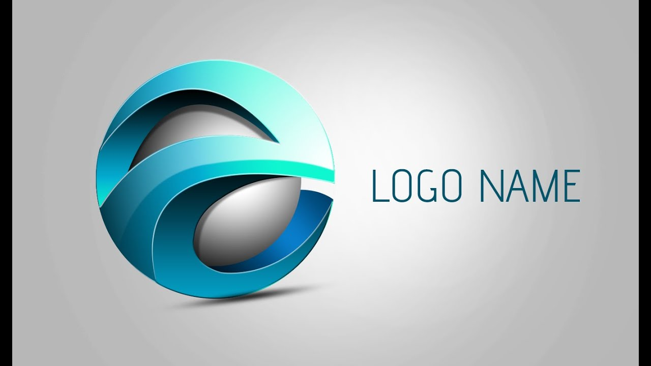 photoshop tutorial 3d logo design element youtube