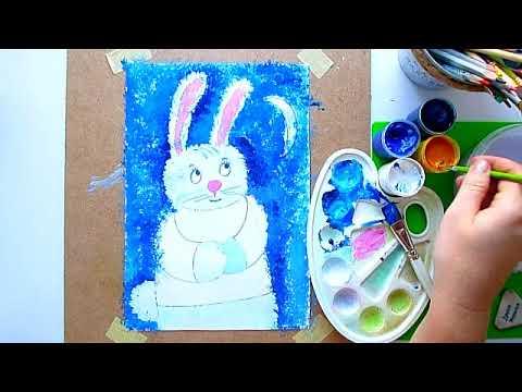 """2 клас. Мистецтво. Малюємо ілюстрацію до казки Сухомлинського """"Зайчик та місяць"""". Тема: Різдвяна казка"""