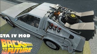 Grand Theft Auto IV + V MOD: DeLorean Time Machine + Time Travel + DOWNLOAD