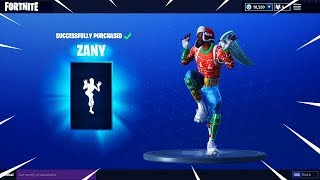 "NEW ""ZANY"" Dance Emote Showcased with 44 Skins 