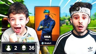 "I buy 4 NEW ""SKIN SECRET"" to EVERY KILL to MY PETIT FREE on FORTNITE: Battle Royale!!"