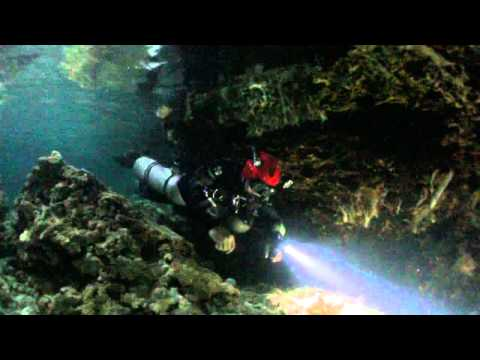 Cave exploration in Visayas Philippines.