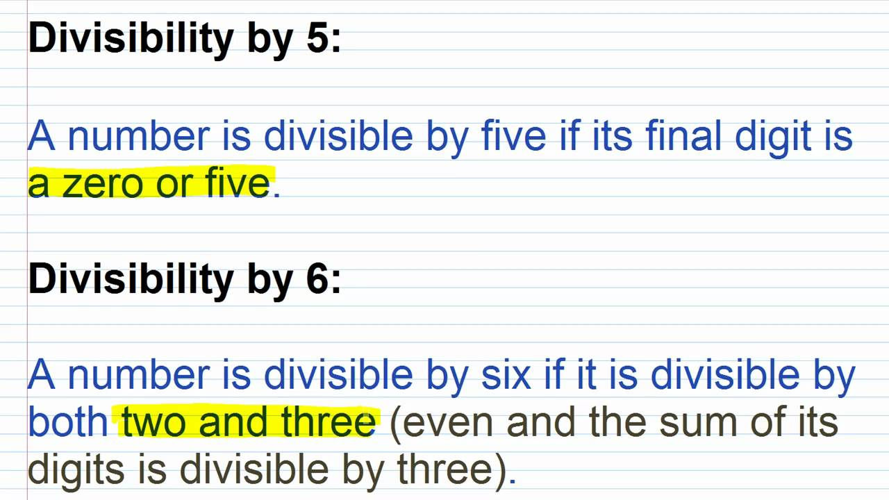 Prealgebra lesson 18 divisibility rules for 2 3 4 5 6 8 9 for Rule of three meaning