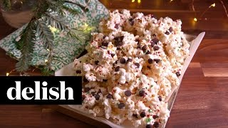 Peppermint Bark Popcorn | Delish
