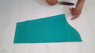 Sleeves cutting with body measurement